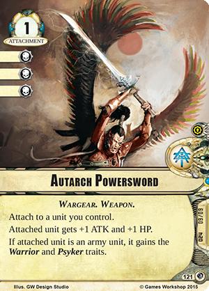 [Cycle Planetfall] Une dernière manoeuvre - 6ème warpack  Autarch-powersword