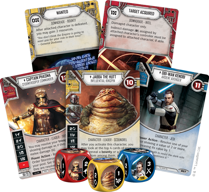 /></p> <h2>On the Run</h2> <p>Since the launch of<em>Star Wars</em>: Destiny, upgrades have always been an essential part of deckbuilding. By attaching these cards to your character, you can roll out additional dice every turn and receive other helpful benefits.<em>Convergence</em>introduces a dark reflection to these enhancements in the form of downgrades—cards that you attach to your opponent's characters. A separate card type from upgrades, every character can have up to three downgrades attached to them. Naturally, these downgrades hinder your opponent in some way, with cards likeWounded(<em>Convergence</em>, 161) permanently reducing a character's health. Even the most stalwart characters can fall to downgrades, and each color has these cards in their own flavor.</p> <p>For example, Yellow receives a cavalcade of<span>bounties</span>in<em>Convergence</em>. These are downgrades that provide a bonus when the attached character is defeated, a helpful reward for bringing in your target.Wanted(<em>Convergence</em>, 143) provides a windfall of resources, whileDeath Mark(<em>Convergence</em>, 39) lets you draw three cards when you defeat the attached character. Naturally, you could attach both of these downgrades to your primary target, giving you a massive boost of momentum when you fulfill the contract. Look for these<span>bounties</span>and more within<em>Convergence</em>!</p> <p><img class=