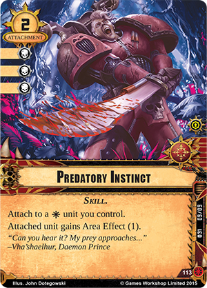 [Death World Cycle] The Warp Unleashed - Warpack #6 Whk21_card_predatory-instinct