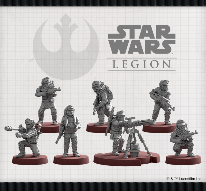 /></p> <p>But if stationary laser cannons aren't part of your battle plan, you can also assign a Rebel Veteran to man a Mark II Medium Blaster and maintain a bit of mobility with your heavy firepower. Rather than act as a heavy weapon upgrade, this miniature becomes its own unit that can only be deployed as a detachment from the Rebel Veterans. Once on the field, however, the Mark II Medium Blaster Trooper is free to aid the ranged attacks of any friendly unit.</p> <p><strong>Rules</strong></p> <div> <div class=