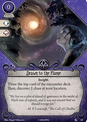 ahc01 card drawn to the flame EnGarde - Vaidmenų Žaidimai