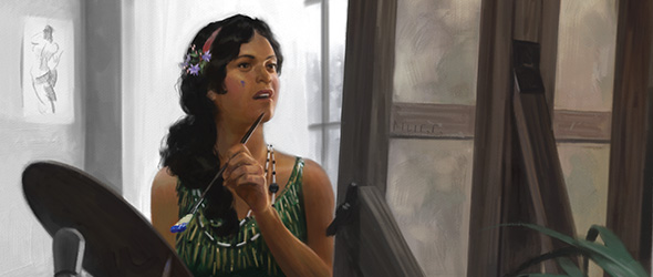 Sefina Rousseau, the painter from Arkham Horror
